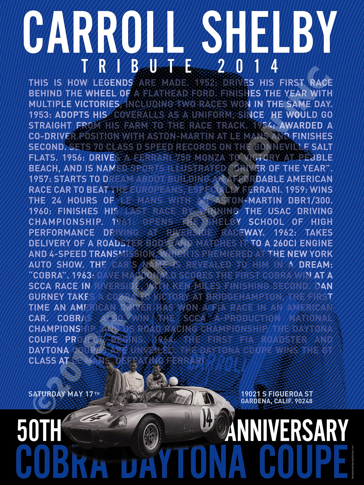 Image of 2014 CARROLL SHELBY TRIBUTE POSTER