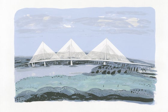 Image of Queensferry Crossing screen print