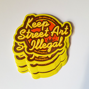 Image of Keep Street Art Illegal - Sticker