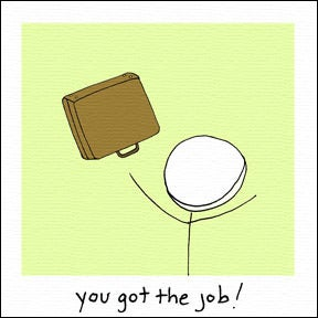 Image of you got the job!