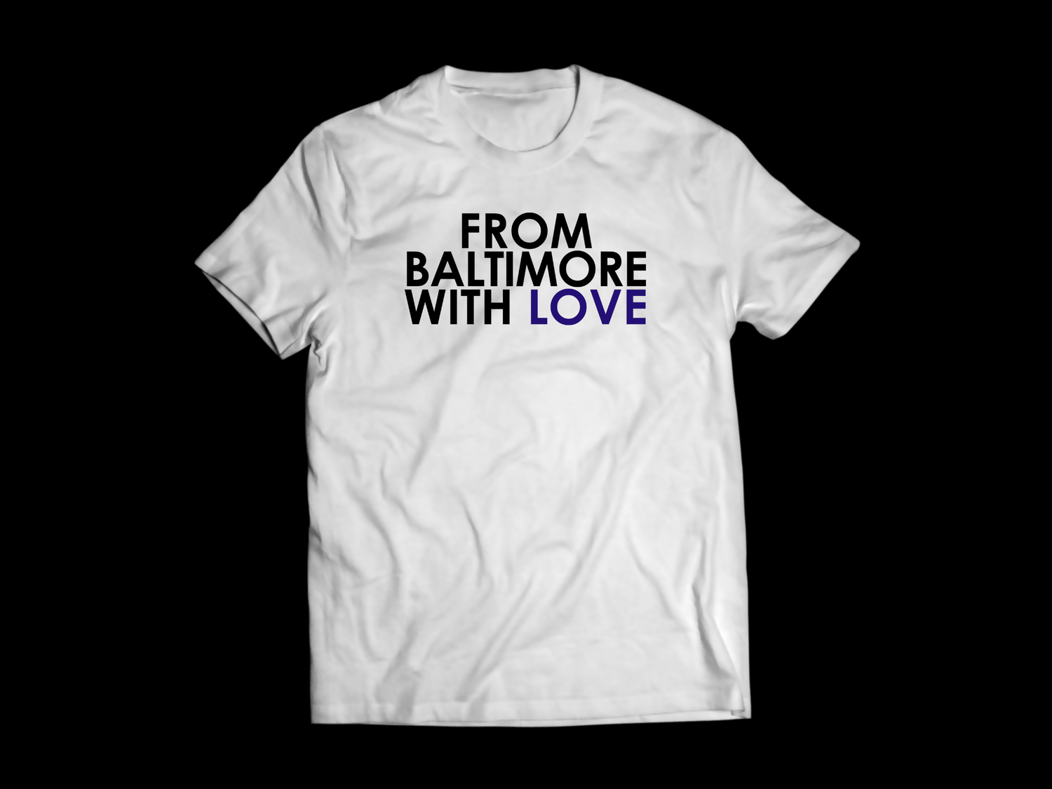 Image of From Baltimore With Love Purple Reign Tee - White