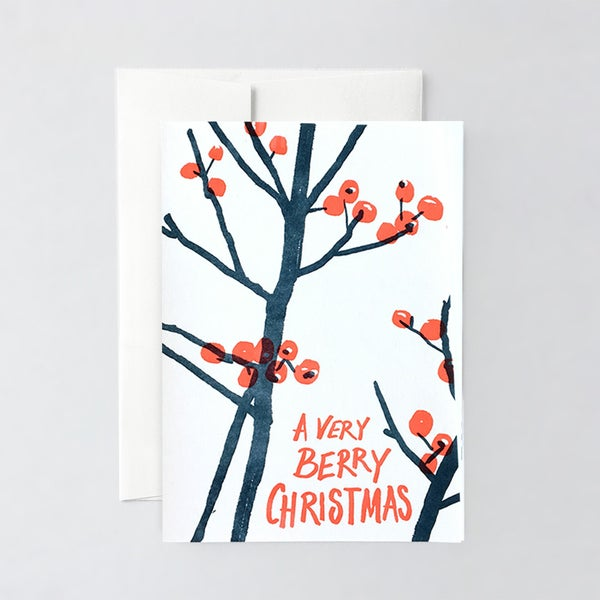 Image of Berry Christmas Letterpress Card