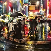 Image of 'Shinjuku Crossing' - Original painting on canvas