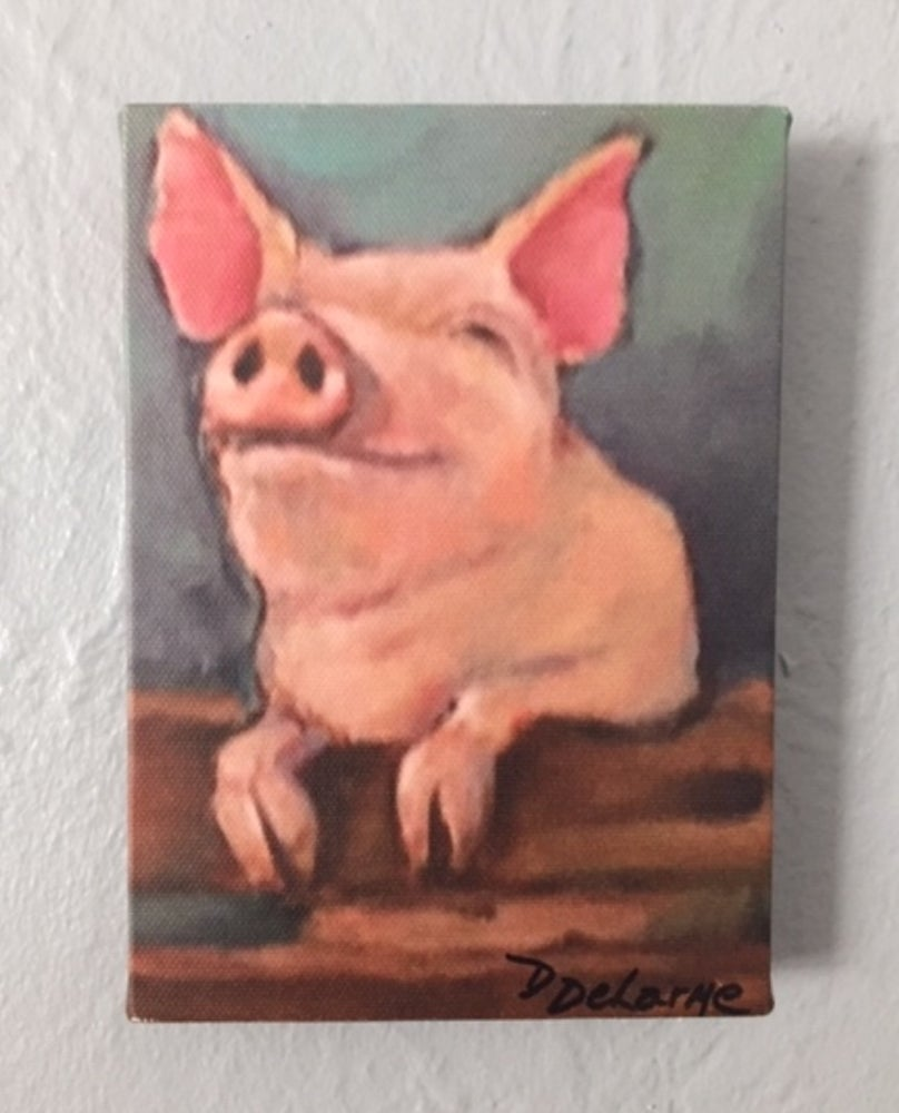 Image of DD033 Reprint 5x7 Happy Pig 2