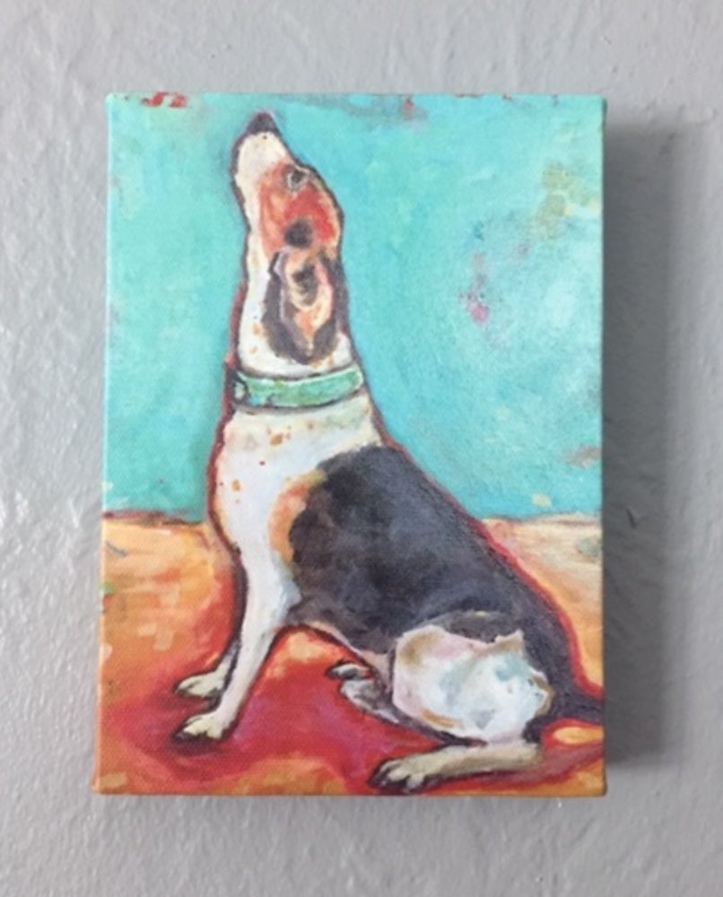 Image of DD037 Reprint 5x7 Begging Beagle