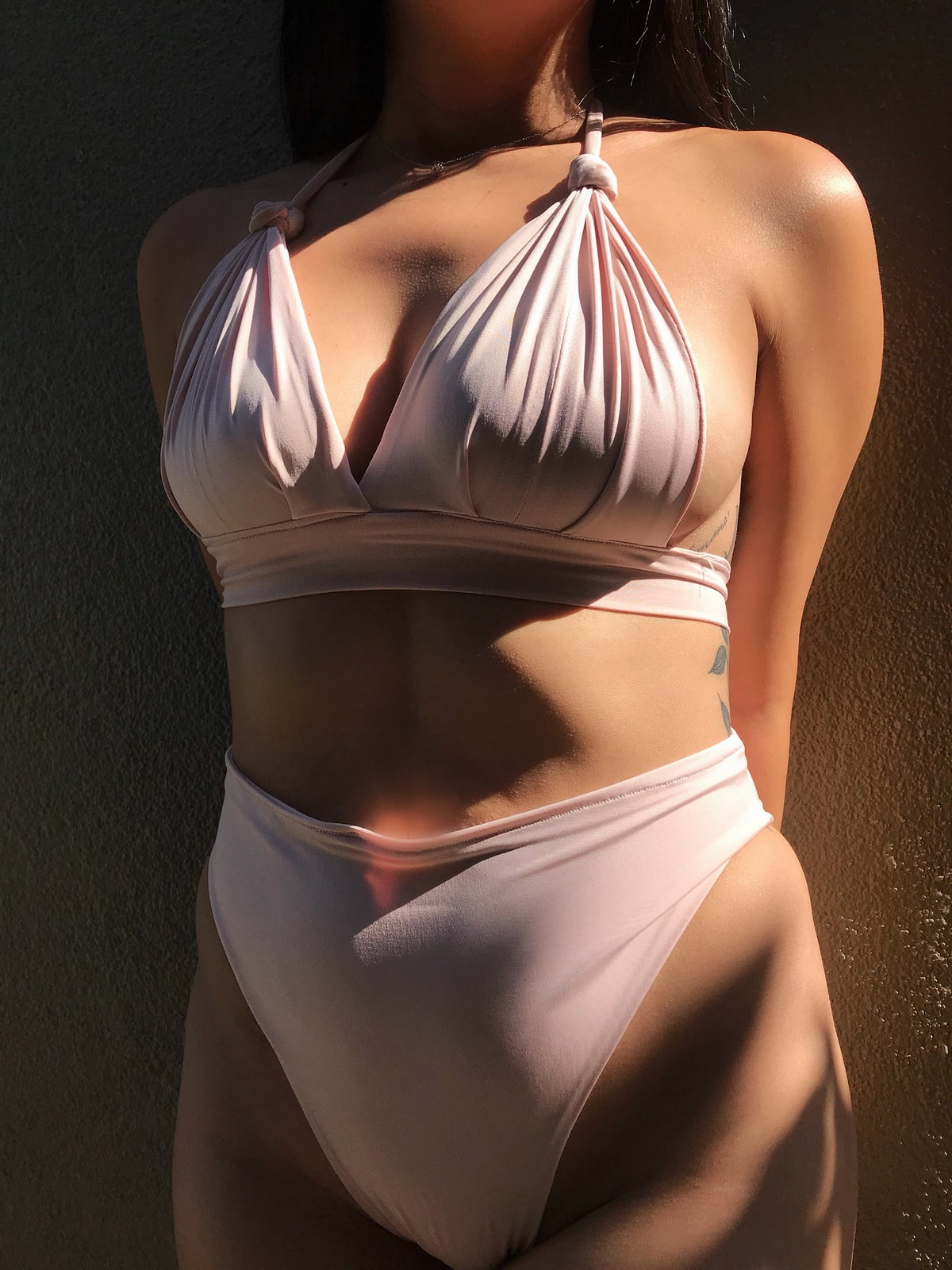 Image of BLUSH TOP w/ HIGH CUT BOTTOMS