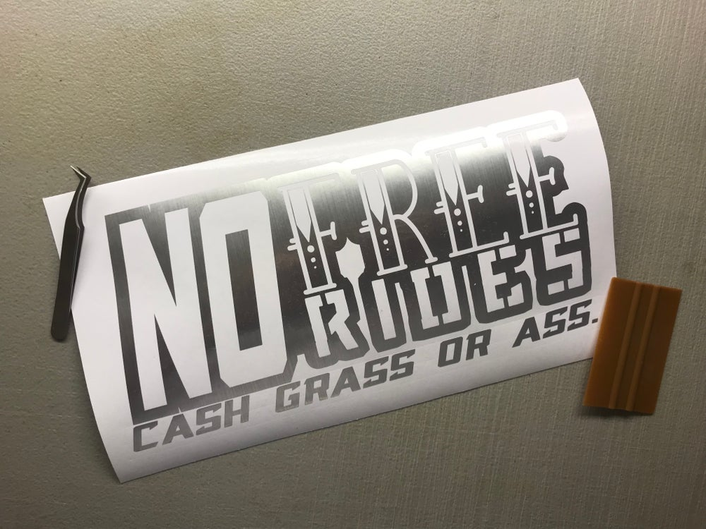 """Image of 10"""" No free rides decal"""