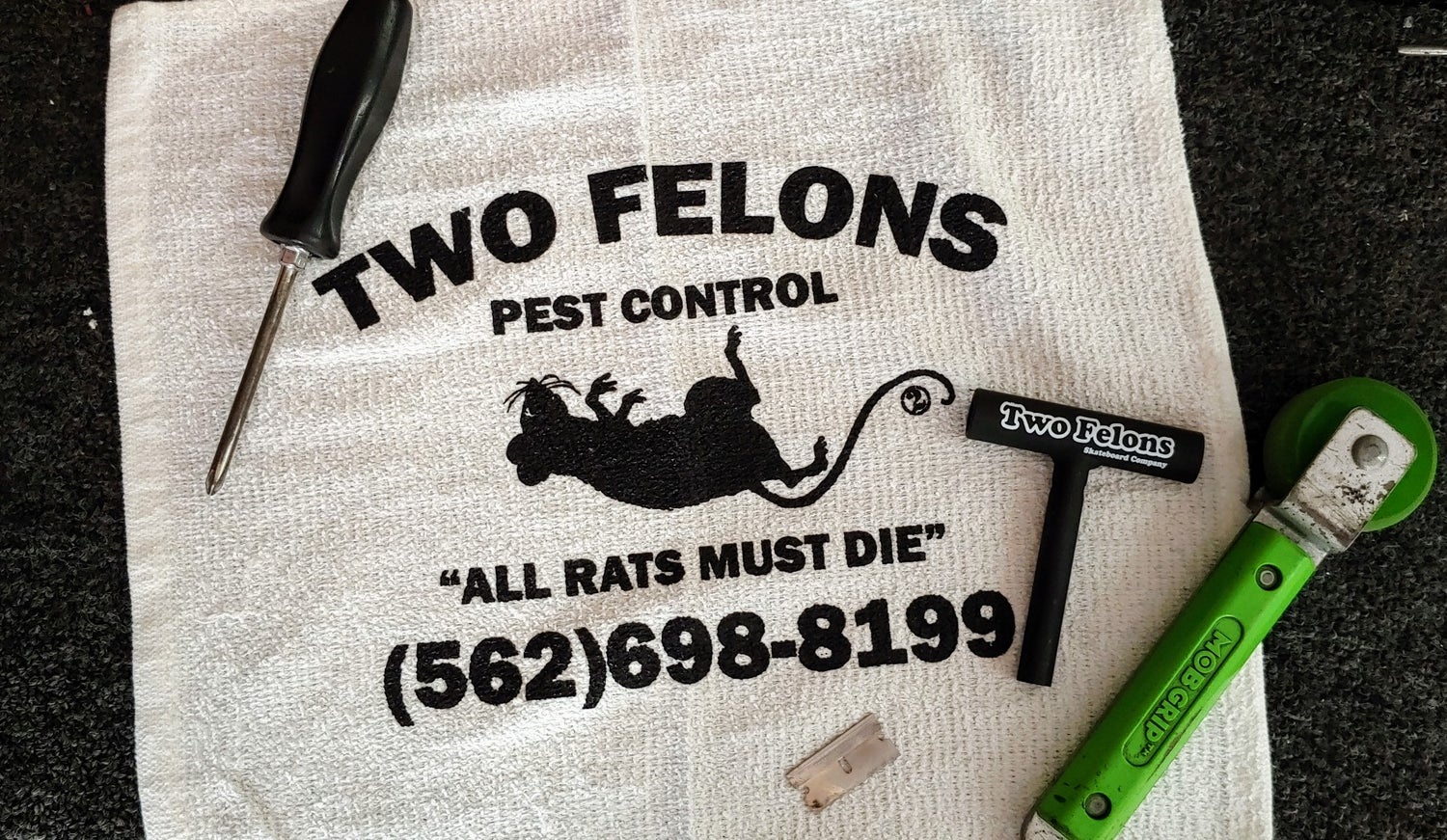 Image of Two Felons Pest Control Shop Rags