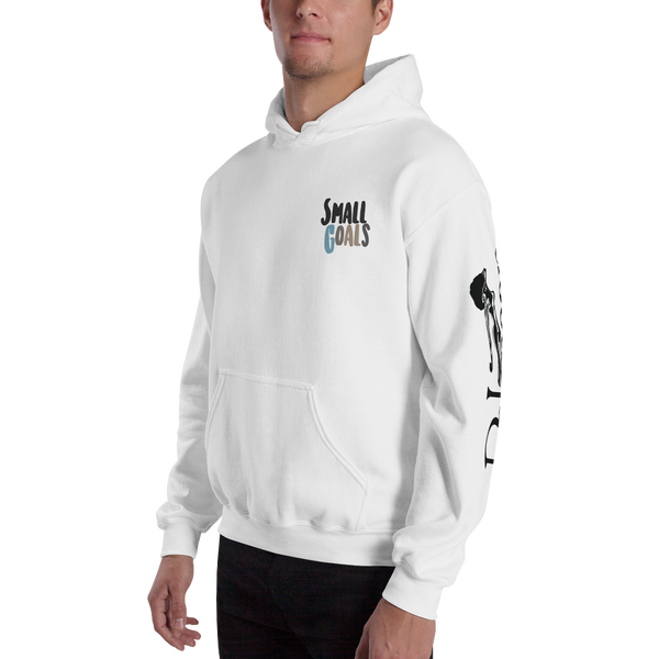 Image of Small Goals Hoodie White (Free Cd)