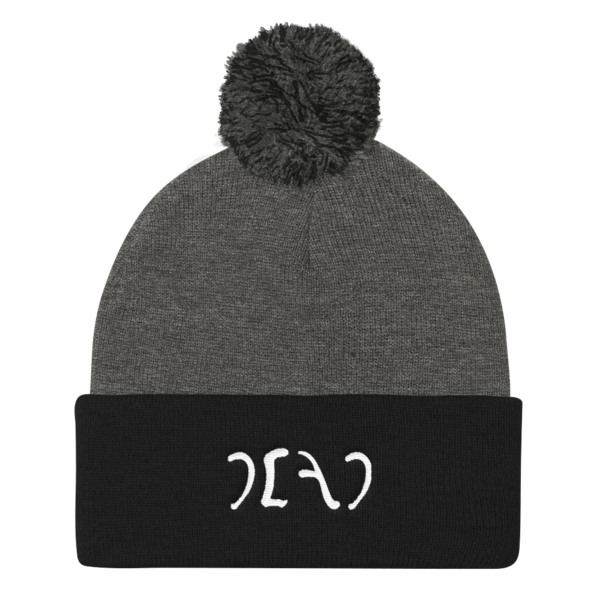 """Image of EGYPT """"DEAD"""" EMBROIDERED POM POM KNIT CAP"""