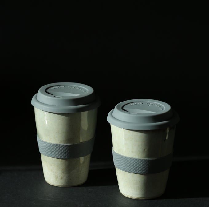 Image of Travel cup with silicone lid (sage green)