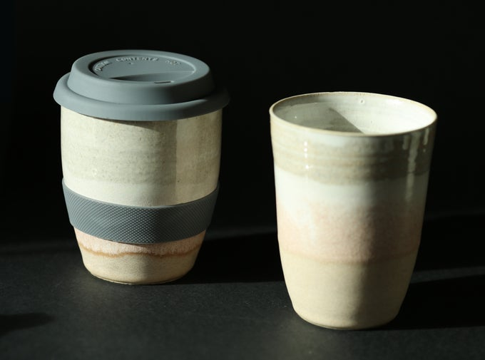Image of Travel cup with silicone lid (blush layers)