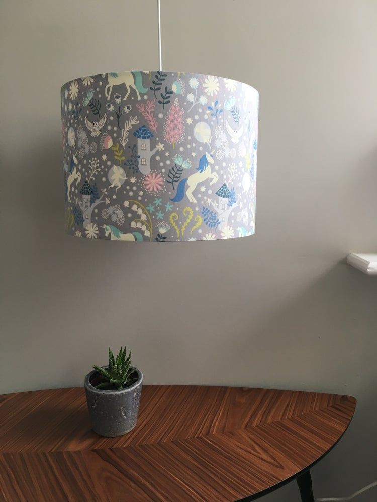 Image of Glow in the Dark Unicorn Forest 30cm Shade