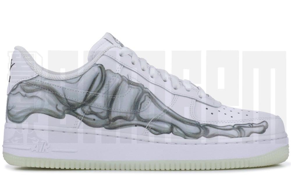 buy popular 19734 4ddaf Nike AIR FORCE 1  07 SKELETON QS   9am6pm