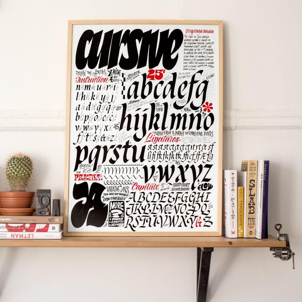 Image of Cursive Manual Screenprint