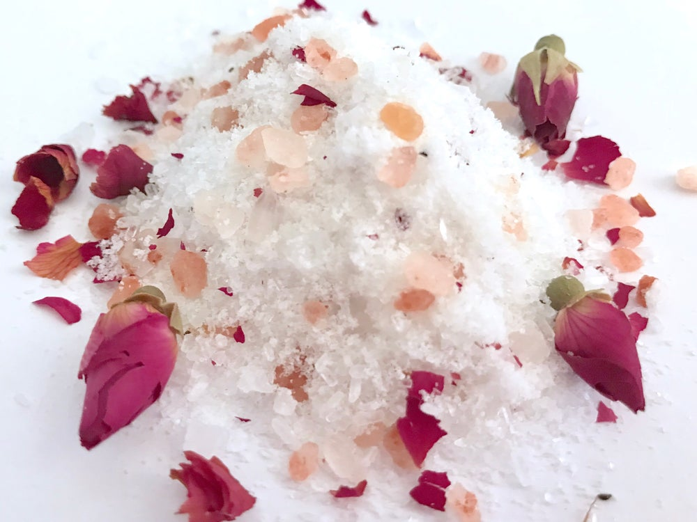 Image of Body Oil and Spa Salt Bath Soak Collection