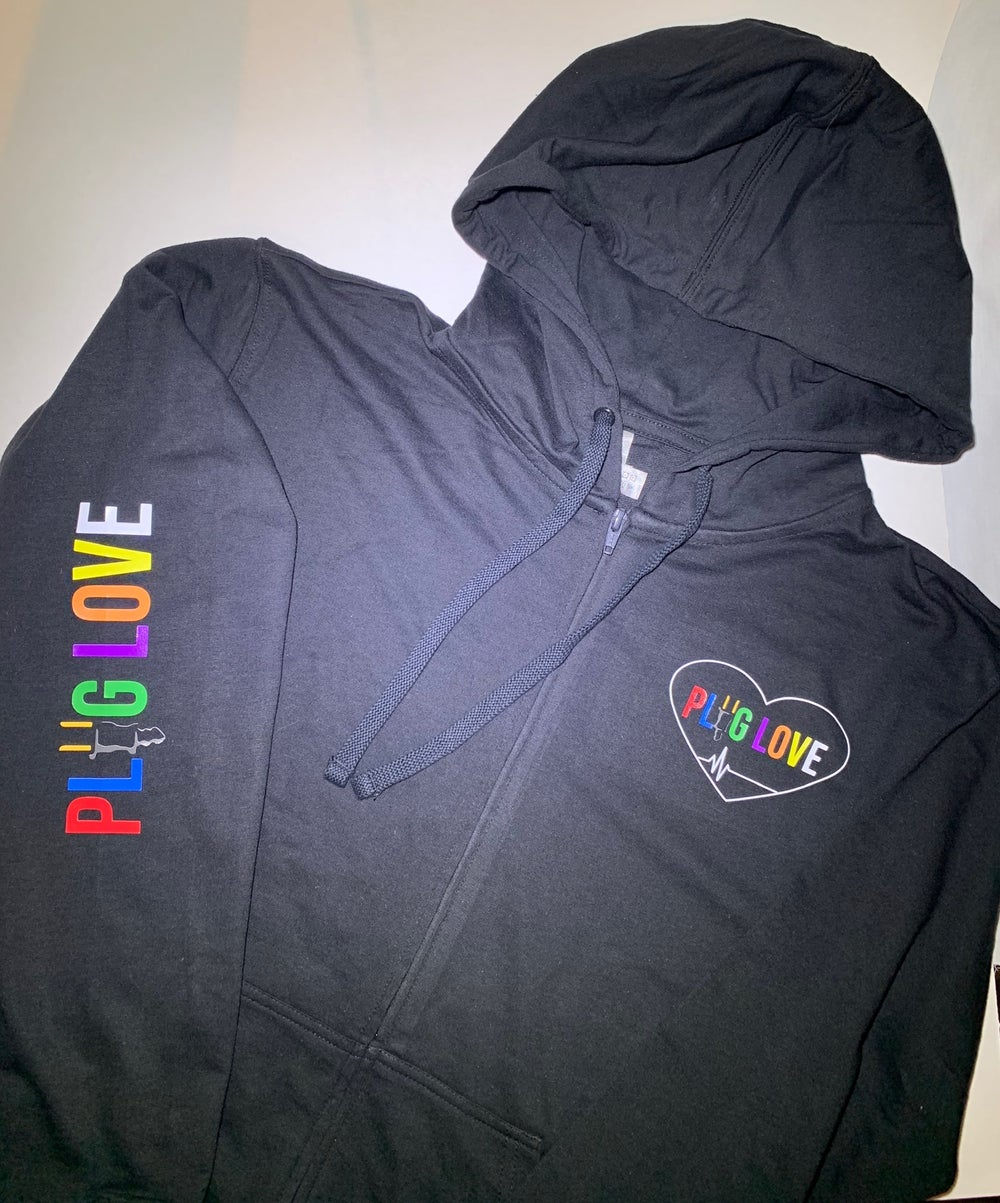 Plug Love Black Sweatpants Image Of Pluglove Zip Up Jacket