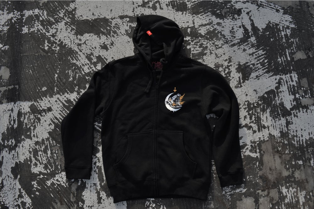"Image of ""We All Burn The Same"" Black ZipUp Hoodie"