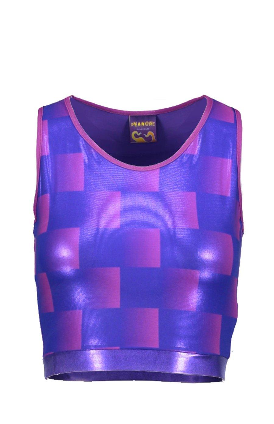 Image of Purple Check Sportsbra