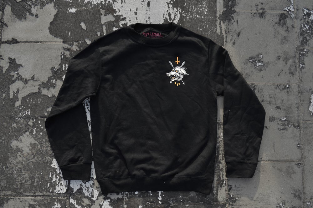 "Image of ""We All Rot The Same"" Black Crewneck Sweatshirt"