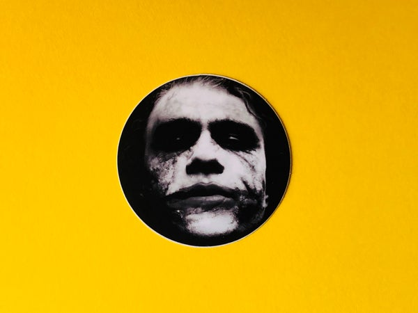 Image of Heath Ledger Joker Sticker- 2""