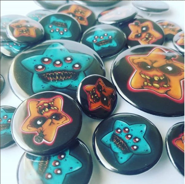 "Custom 2.25"" pin back buttons"
