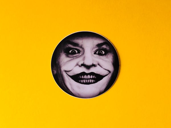 Image of Jack Nicholson Joker Sticker- 2""
