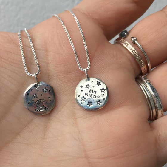 Image of recycled Galaxy necklace