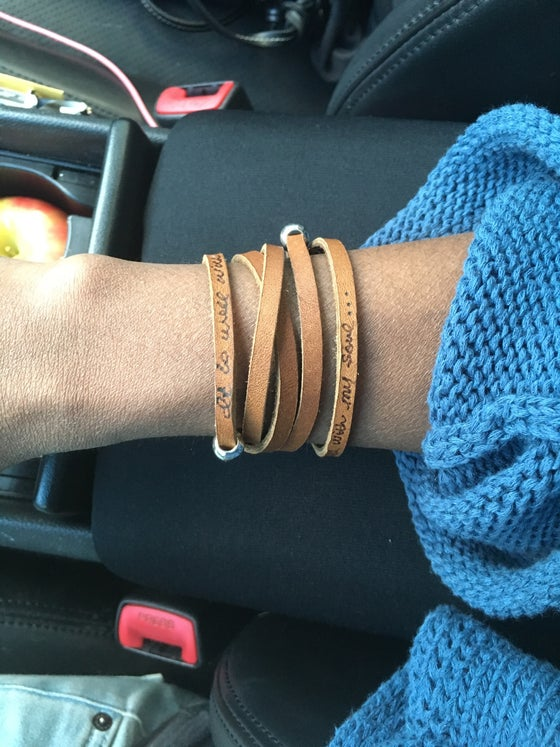 Image of Custom leather wrap