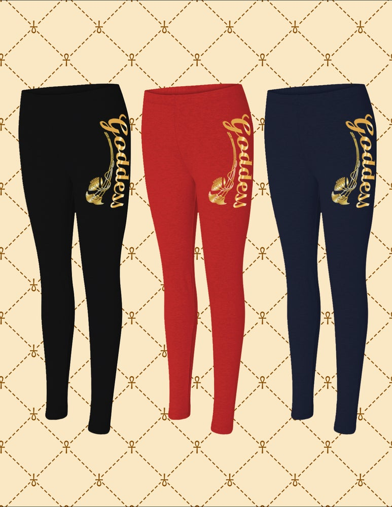Image of GODDESS SPANDEX JERSEY LEGGINGS