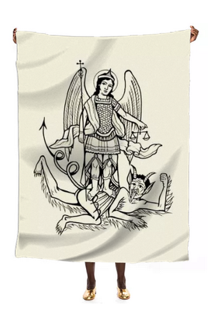 Image of Large Silk Scarf - Triumph of Angel over Devil