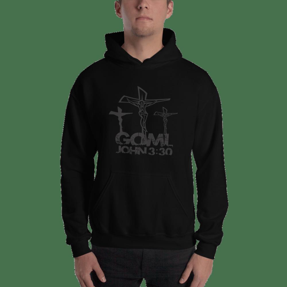 Image of GOMLJOHN330 Hoodie (Black Logo)