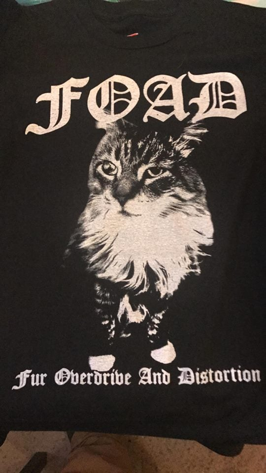 Image of Fur Overdrive and Distortion T shirt pre order run 2