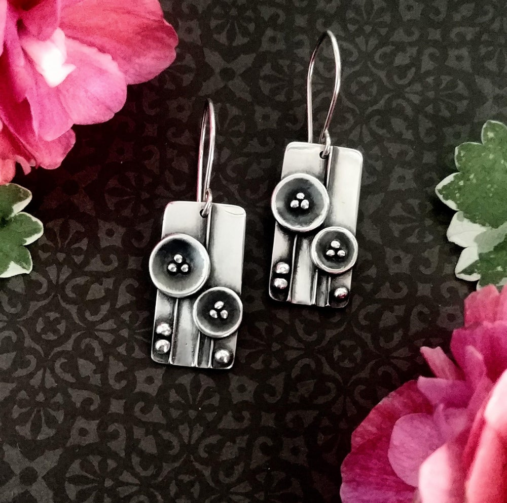 Image of Poppy Field Sculpture Earrings