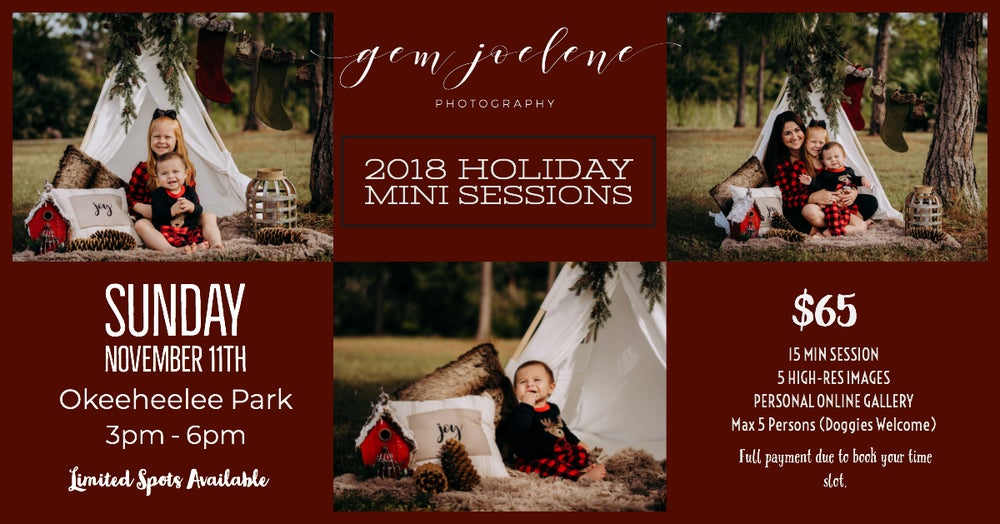 Image of Holiday Mini Sessions - Sunday 11th Nov, 3 pm - 6 pm