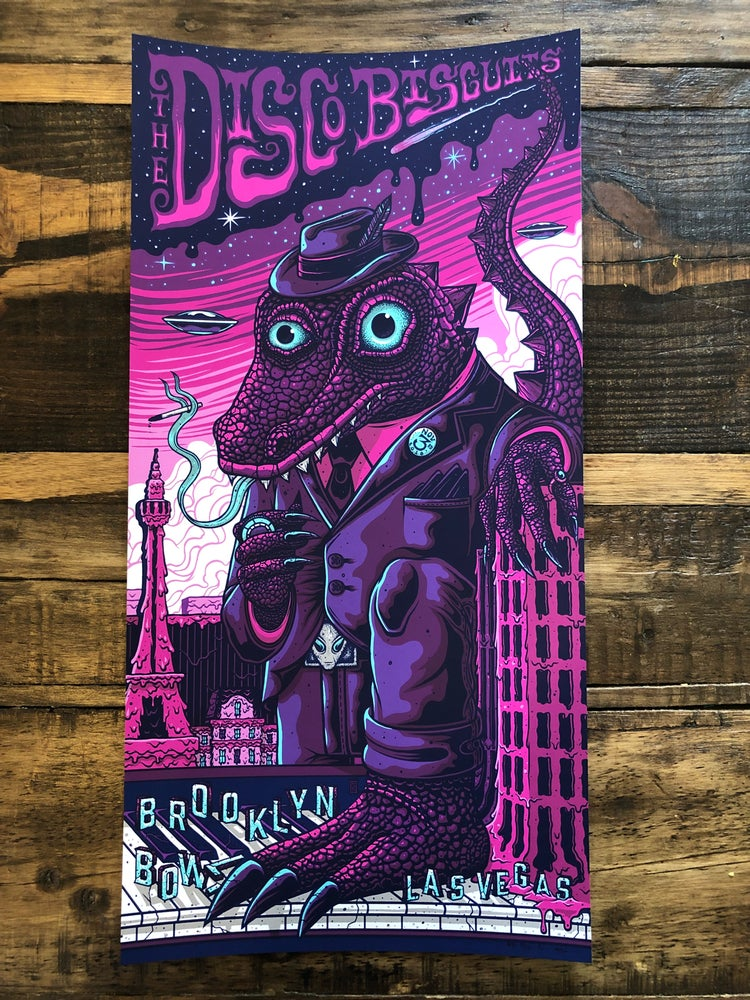Image of The Disco Biscuits - Brooklyn Bowl Las Vegas - Nov. 1-3, 2018 - Regular Cut Singles Artist EditionsI