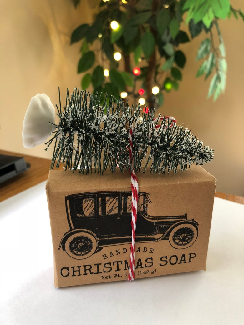 Image of Christmas Soap with old fashioned packaging