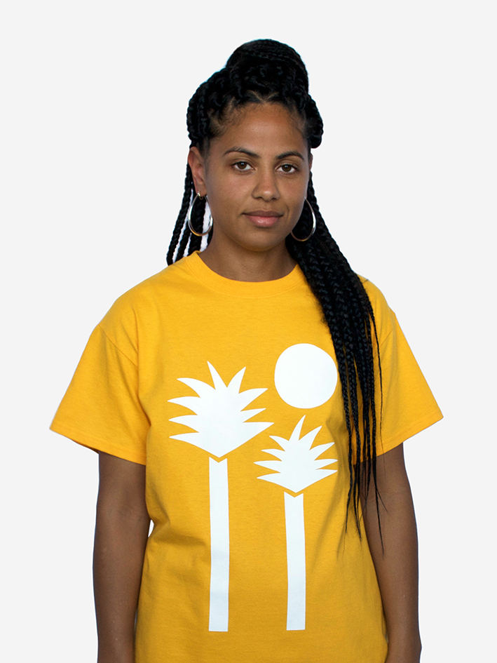 Image of 'Palms' Tee - Golden