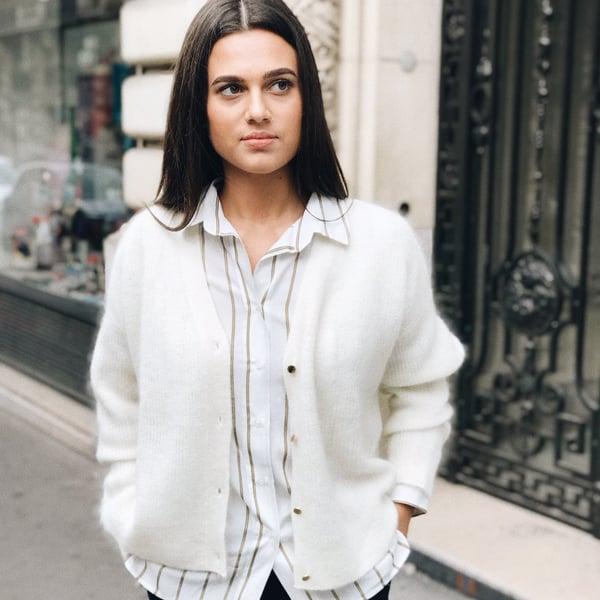 Cardigan Alix écru - Maison Brunet Paris