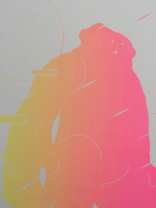 Image of YOMFHK Fluoro screenprint
