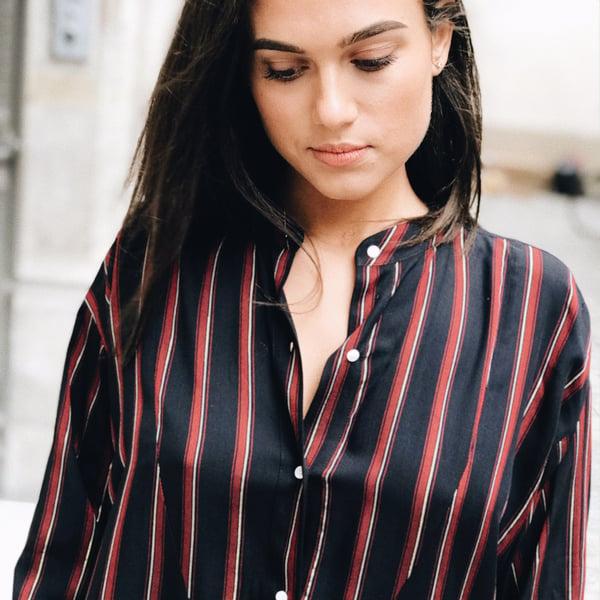 Robe chemise Mili Marine  - Maison Brunet Paris