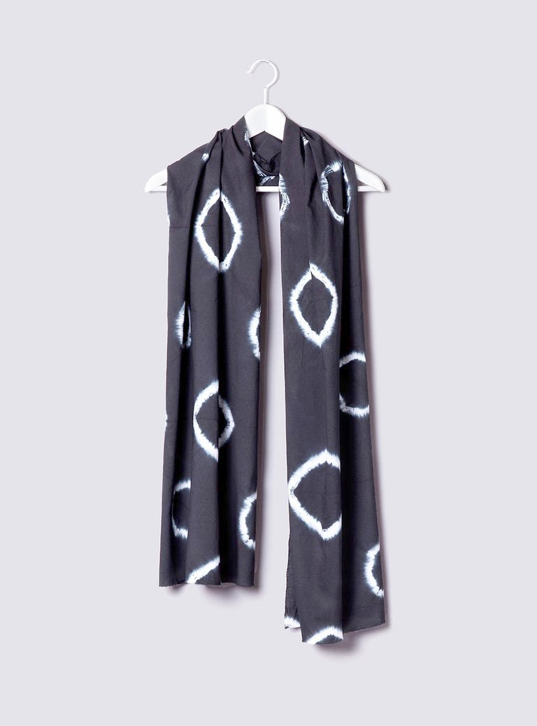 Image of Charcoal Tie-Dye Scarf
