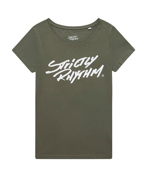 Image of Women's classic logo t-shirt khaki / grey marl