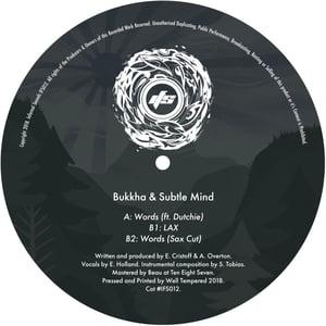 Image of IFS012: Bukkha & Subtle Mind - Words (ft. Dutchie) / LAX / Words (Sax Cut)