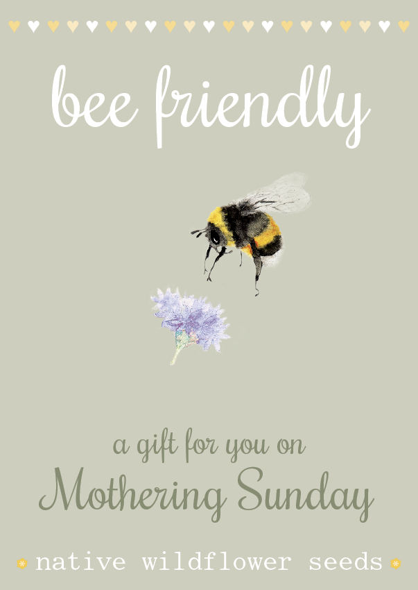Image of Bee Friendly Mother's Day - NEW Watercolour Design