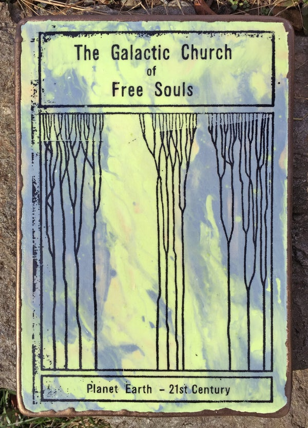 Image of Stoneware Ceramic Art Tile #1 - Free Souls
