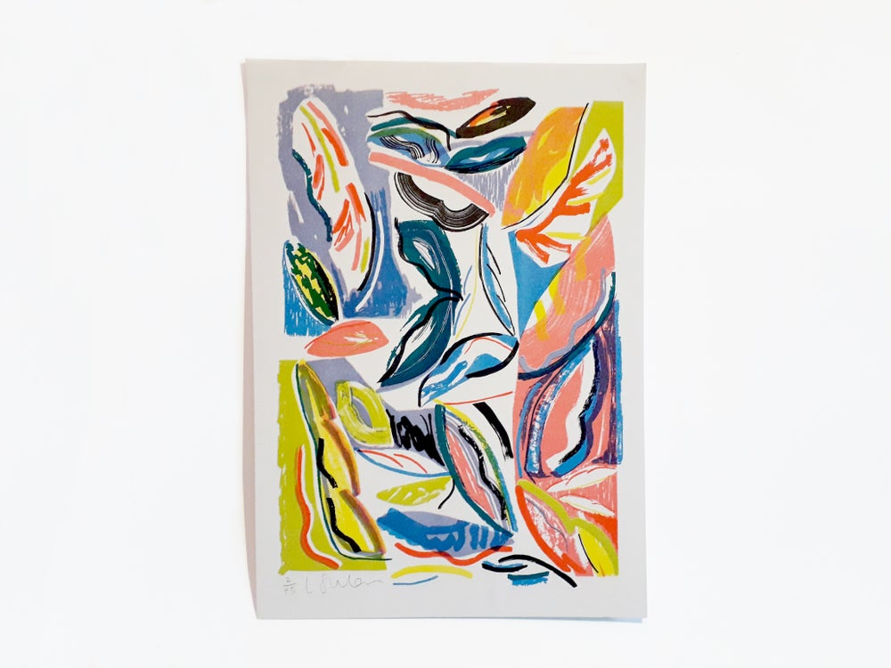Image of 'PAMPAS' A3 Riso Print