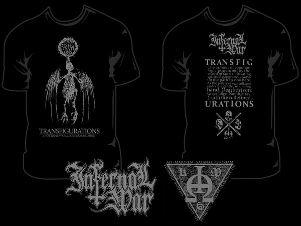 Image of INFERNAL WAR / KRIEGSMASCHINE - 'Transfigurations' men's t-shirt