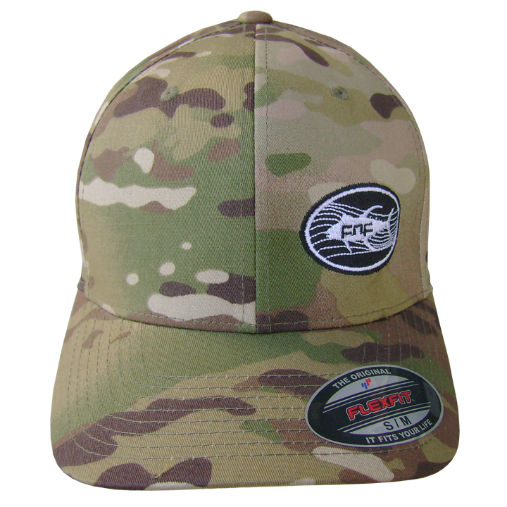 Image of Tuna Emblem Fitted Hat (camo)