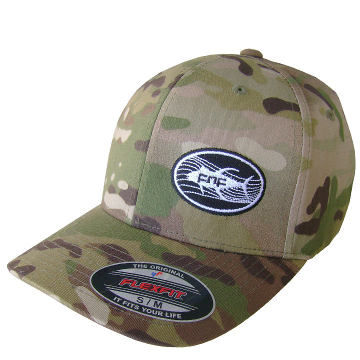 Image of Tuna Emblem Fitted Hat (tan camo)